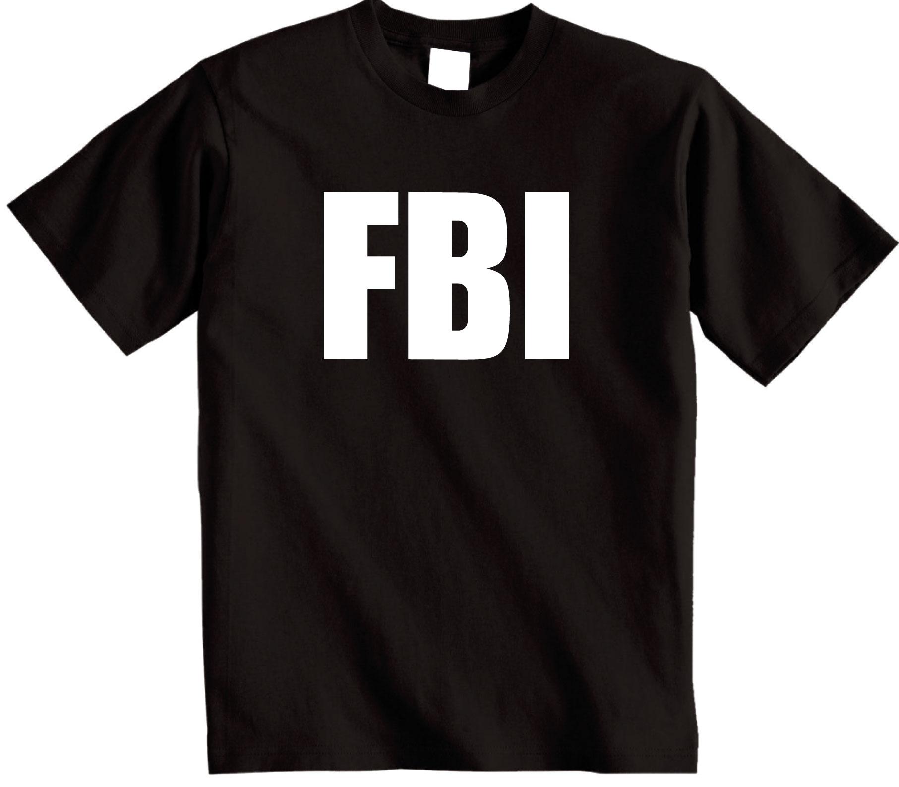 FBI t shirt Fancy dress police top Shoebob