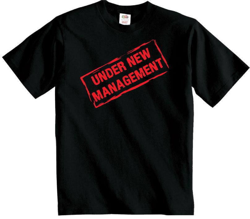 UNDER NEW MANAGEMENT t shirt Wedding Groom  Husband T-Shirt just Married honeymoon